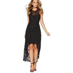 573944cc41f3 QUIZ společenské třpytivé krajkové šaty s asymetrickou sukní černá ...