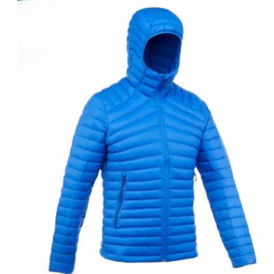 Forclaz pánská turistická péřová bunda Trek 100 modrá