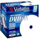 Verbatim DVD+R 4,7GB 16x, AZO, printable, jewel, 10ks (43508)