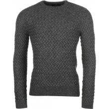Firetrap Texture Knit Jumper pánské, charcoal