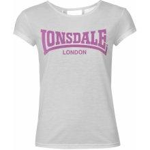 Lonsdale 2 Stripe Logo Crew T Shirt Ladies