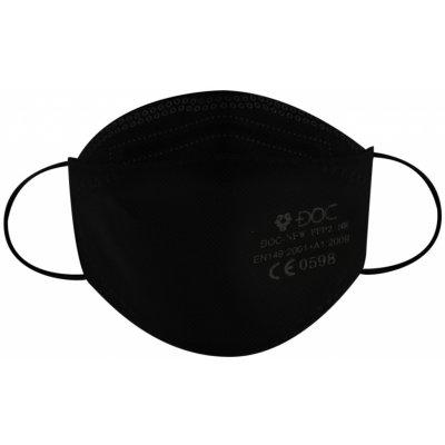 DOC DOC-NFW 3D Polomaska respirátor FFP2 NR Černá