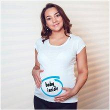 Bezvatriko.cz těhotenské tričko Baby Inside bílá
