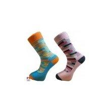 bf56293cce8 Pondy pánské luxusní designové ponožky COLOR RASTR Tyrkysová