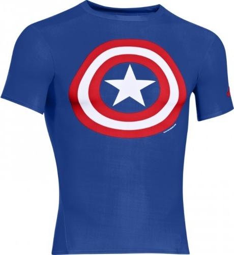 Under Armour Pánské Kompresní Tričko HeatGear® Alter Ego Captain America  Modrá 1244399-402 alternativy - Heureka.cz d274f67873a
