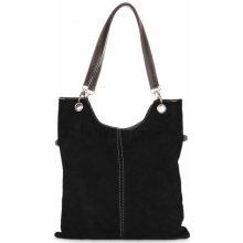 kožené kabelky černá