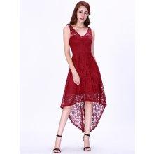 Ever Pretty krátké krajkové šaty 3063 bordo 14092639ae