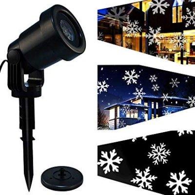 EMOS ZY1936 LED dekorativní projektor – bílé vločky, časovač