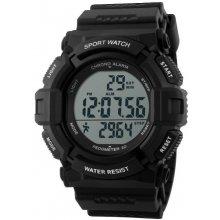 Sportovní hodinky s krokoměrem  GTUP 1001 černé voděodolné