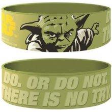 Náramek silikonový Star Wars Yoda zelený šířka WR67199 CurePink