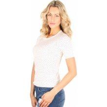 Tommy Hilfiger dámské tričko Eliya se srdíčky bílé 10fe48acfa