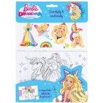 Barbie DREAMTOPIA Magnetky, omalovánky, samolepky