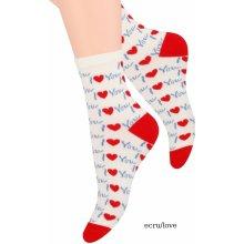 Steven dámské ponožky Vzorované art.099 Srdce černá 990bc5fe83