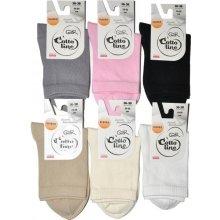 Gatta ponožky Cottoline Jarně-Letní Hladké 4322 černá