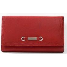 velmi příjemná kvalitní kožená HMT peněženka červená