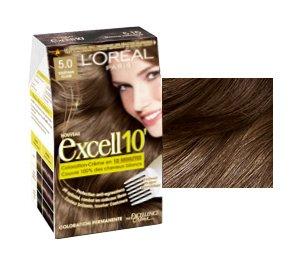 Loréal barva na vlasy Excell 10´ 5,0 světle hnědá