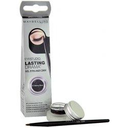 Oko Maybelline Eye Studio Lasting Drama Gel Eyeliner Gelové oční linky 24H 01 Intense Black 2,8 g