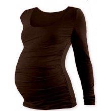 Jožánek Johanka těhotenské tričko dlouhý rukáv čoko hnědá