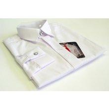 Chlapecká košile dlruk bílá