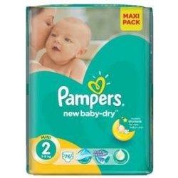 Pampers New Baby-Dry Active 2 Mini 2 Mini 3-6 Kg 228 ks