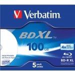 Verbatim BD-R XL 100GB 4x, jewel, 5ks (43789)