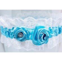 Podvazek svatební modrý