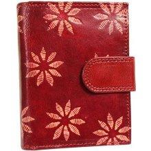 Nivasaža N6 SNT RF dámská kožená peněženka červená