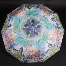 Dámský skládací deštník Aura tmavě zelený
