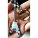 Přívěsek na klíče Music Legends PPT PK013 Jimi Hendrix Psychedelic Gibson  Flying V 1458410ce1