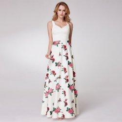 6fb668c5620 Dlouhé luxusní letní šaty s růžemi bílá dámské šaty - Nejlepší Ceny.cz