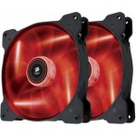 Corsair Air Series SP140 LED Red High Static Pressure 140mm Fan Twin Pack, CO-9050034-WW