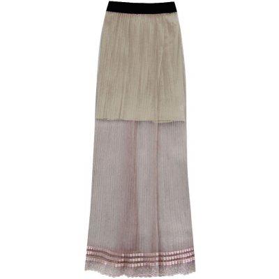 Prodyšná hnědá plisovaná sukně 98ART