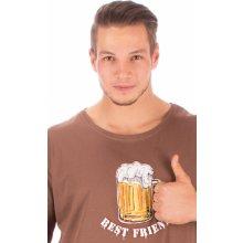 Velké pivo pánská noční košile kr.rukáv hnědá