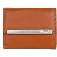 Oranžová kvalitní kožená peněženka HMT kompaktní