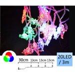 TFY NO74164 Vánoční LED osvětlení andílek 20LED, 3m, barevná