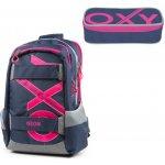 d713046c47 Karton P+P batoh Oxy Sport modrá Line růžová