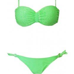 Rika Rose B193 Dvoudílné plavky krajkové s ozdobnými kamínky zelená 0925964feb