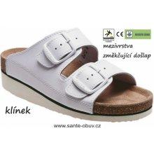 Santé N 25 10 H K bílé pantofle zdravotní 1fe99767bc