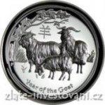 lunární Stříbrná mince rok Kozy 2015 série II. vysoký reliéf
