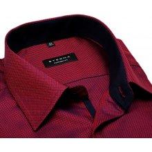 Eterna Comfort Fit – červeno-modrá košile s jemnou strukturou a tmavomodrým  vnitřním límcem 01d5445e72