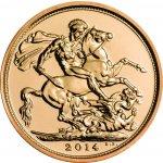 The Royal Mint UK SOVEREIGN zlatá investiční mince Velká Británie 2014
