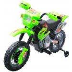 Goleto dětská elektrická motorka Enduro zelená