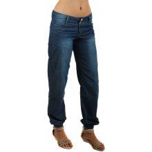 YooY Dámské volné riflové kalhoty modrá 24024a5ce5