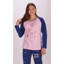 Dětské pyžamo dlouhé Malí králíci růžová