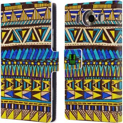 Pouzdro HEAD CASE Microsoft Lumia 950 / LUMIA 950 DUAL SIM Barevná aztécká čmáranice modrá