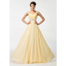 Grace Karin krémově žluté společenské šaty CL4446-1 Ivory ... 05c9fe4dc1