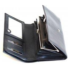 Valentini dámská peněženka na šířku kožená s rámečkem 306329 09KUZ černá