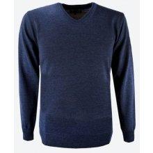 KAMA pánský Merino svetr 4104 modrý