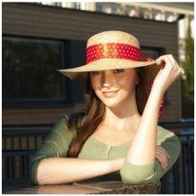 0e0ebe3db2e Karpet Dámský slaměný klobouk s mašlí červená 203530