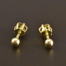 Goldstore náušnice zlaté pecky kuličky 1.11.NA002229